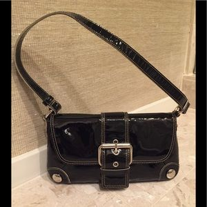 Kenneth Cole Black Patent Leather Bag